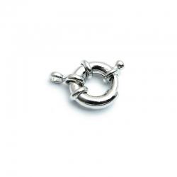 Boeislot antique zilver 12 mm (10 st.)