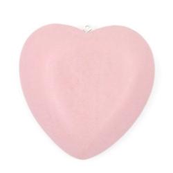 Houten hanger hart roze 56mm (1 st.)