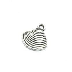 Bedel schelp zilver 15x13mm (5st.)