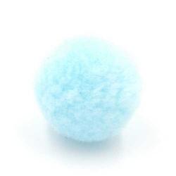 Pompon 26mm lichtblauw (5 stuks)