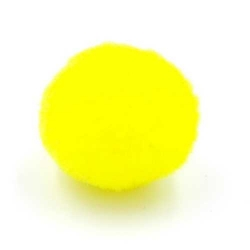 Pompon 26mm geel (5 stuks)