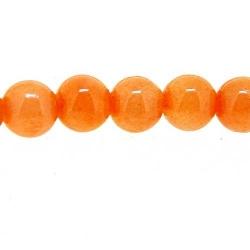 Gekleurd steen kraal oranje 6 mm (10 st.)