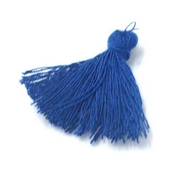 Kwastje blauw 27mm (3 st.)