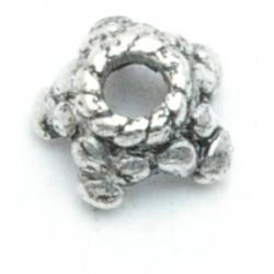 Metaal, kralenkapje, zilver, 4 mm (10 st.)