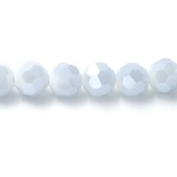 Facet kraal rond grijs AB 6mm (10 st.)