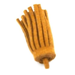 Kwastje suede beige 3cm (3 st.)