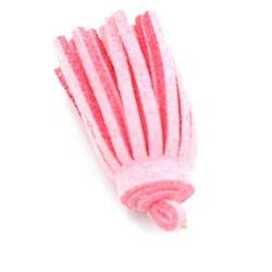 Kwastje suede roze 3cm (3 st.)