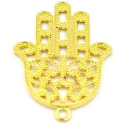 Metaal bedel hand Fatima goud 52mm (2 st.)