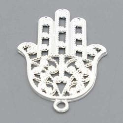 Metaal bedel hand Fatima zilver 52mm (2 st.)