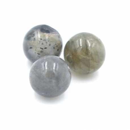 Labradoriet kraal rond 8mm (10 st.)