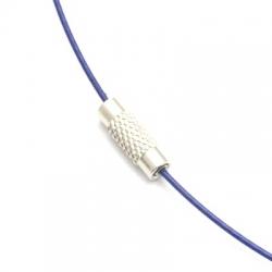 Ketting van gecoat staaldraad, blauw, 41 cm (1 st.)