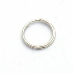 Ring split zilver 10 mm (20 st.)