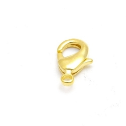 Karabijnslot, goud, 10 mm (10 st.)