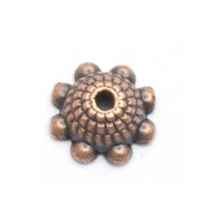 Kralenkapje, brons, 3 x 8 mm (15 st.)