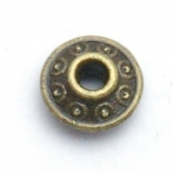 Metaal, spacer, antique goud, 7 mm (20 st.)