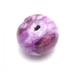 Halfedelsteen kraal, paars, donut, mm (5 st.)