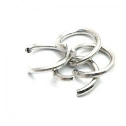 Ring open antique zilver 8 mm (10 gram)