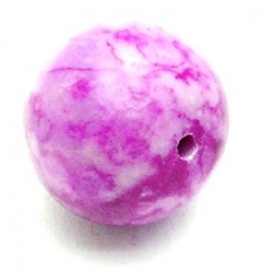Halfedelsteen kraal, fuchsia, rond, 18 mm (5 st.)