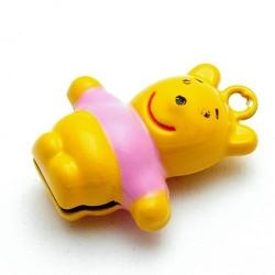 Metaal, belletje, Winnie the Pooh, oranje, 28 mm (1 st.)