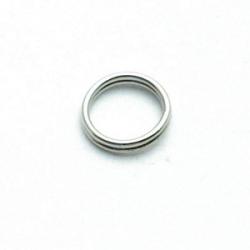 Ring split antique zilver 10 mm (10 gram)