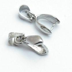 Klemmetje t.b.v. geslepen glashanger, zilver (10 st.)