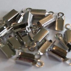 Veterklem zilverkleurig, 11x6mm (25 st.)