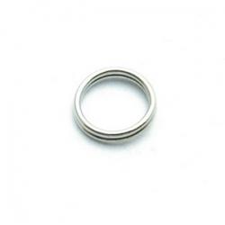 Ring split zilver 8 mm (10 gram)