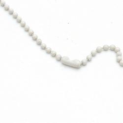 Ballchain met slotje wit 3mm (69 cm.)