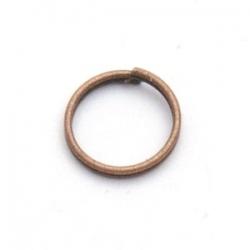 Ring split antique goud 8 mm (10 gram)