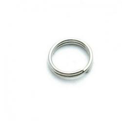 Ring split antique zilver 8 mm (10 gram)