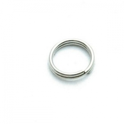 Ring split antique zilver 12 mm (10 gram)