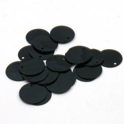 Lovertjes, rond, zwart, 16 mm (50 gram)