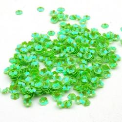Lovertjes, bloem, groen, 6 mm (50 gram)
