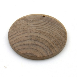 Hout, hanger, rond, bruin, 44 mm (1 st.)