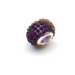 Pandora Style, kraal, strass, paars, 14 mm (1 st.)