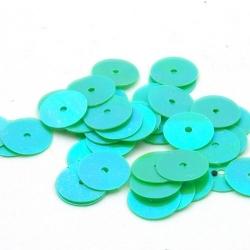 Lovertjes, rond, lichtgroen, 10 mm (50 gram)