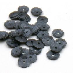 Lovertjes, rond, zwart, mat, 8 mm (50 gram)