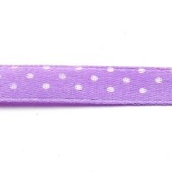 Lint, polkadot, lila/wit, 10 mm (3 mtr.)