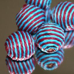 Touwkraal, rood met blauw, 21 mm (1 st.)