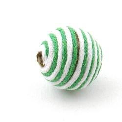 Touwkraal, groen/wit, 21 mm (3 st.)