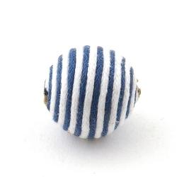 Touwkraal, blauw/wit, 21 mm (3 st.)