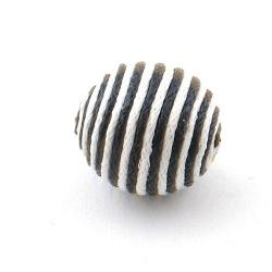 Touwkraal, zwart/wit, 21 mm (3 st.)