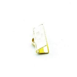 Lintklem goud 14 x 6 mm (6 st.)