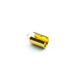 Veterklem, rond, goud, 4 x 10 mm (25 st.)