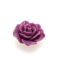 Hanger, roosje, oudroze, 25 mm (3 st.)