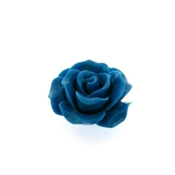 Hanger, roosje, blauw, 25 mm (3 st.)