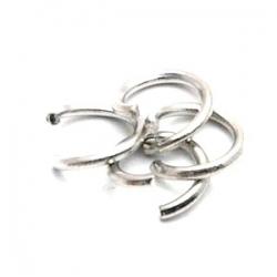 Ring open antique zilver 6 mm (10 gram)