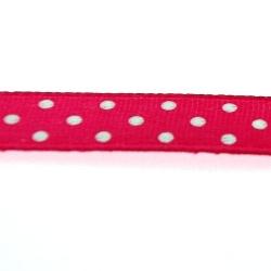 Lint, polkadot, fuchsia/wit, 10 mm (3 mtr.)