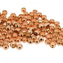 Knijpkralen roségoud 2,5 mm (10 gr.)
