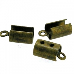 Veterklem, antique goud, 4 mm (25 st.)
